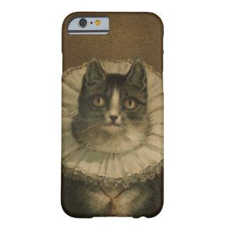 El gatito de la pintura del gato del vintage de la funda de iPhone 6 barely there