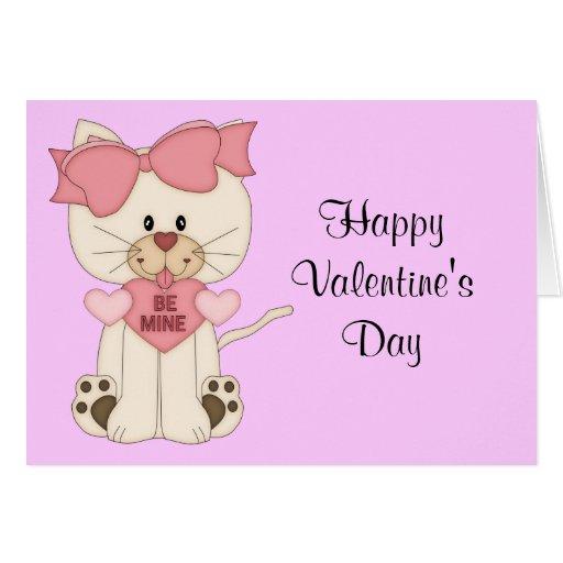 El gatito de la tarjeta del día de San Valentín co