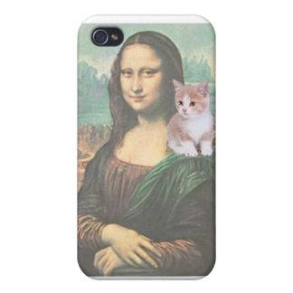 El gatito de Mona Lisa iPhone 4 Protector