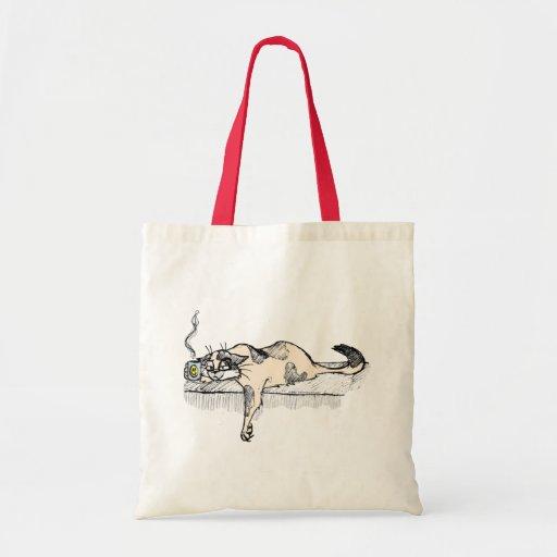 """¡El gatito del café no es un *ahem* """"persona"""" del  Bolsas De Mano"""