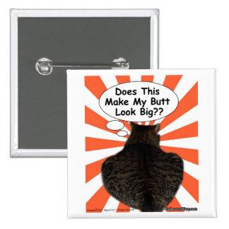 ¿El gatito del hippy hace esto hace mi mirada del  Pin Cuadrada 5 Cm