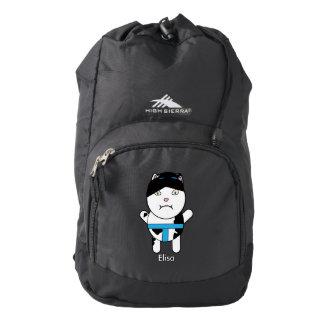 El gatito del sumo personaliza mochila