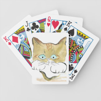 El gatito del tigre mancha su primera barra negra barajas de cartas