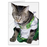 El gatito/el leprechaun irlandeses consiguió la ta felicitaciones