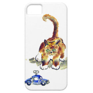 """El gatito está decidiendo saltar o no al """" kitt iPhone 5 coberturas"""