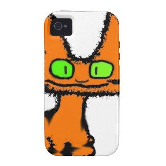 El gatito feliz se sienta y sonríe iPhone 4 carcasa