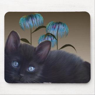 El gatito florece Mousepad Alfombrillas De Ratón