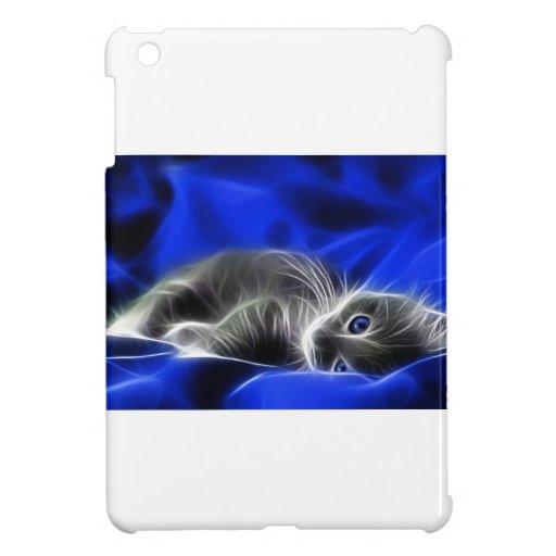 El gatito gris se despierta iPad mini cárcasas