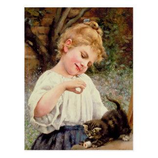 El gatito juguetón postal