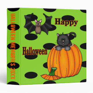 """El gatito lindo de Halloween, golpea 1,5"""" carpeta"""