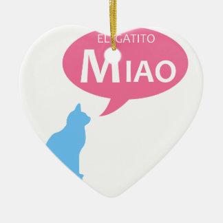 EL Gatito Miao Adorno De Cerámica En Forma De Corazón