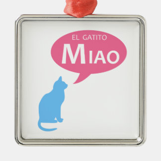 EL Gatito Miao Metal Ornament