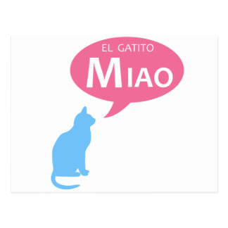 EL Gatito Miao Tarjeta Postal