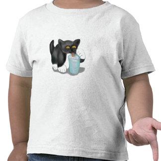 El gatito negro del smoking se escabulle un vidrio camisetas
