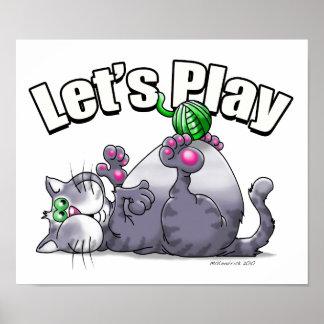 El gatito nos dejó jugar posters