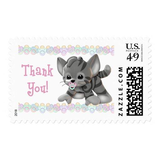 El gatito pacificado le agradece los sellos