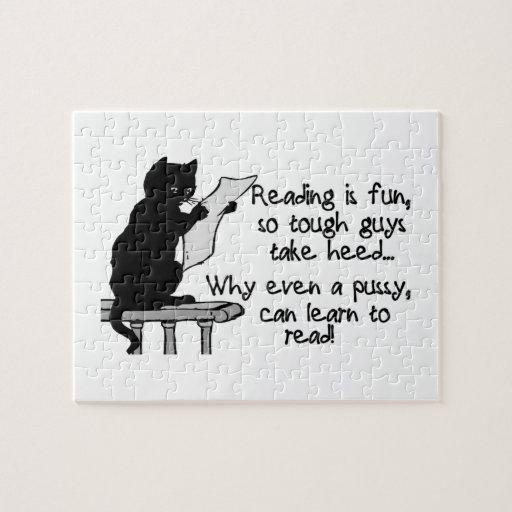 El gatito puede leer el gato divertido puzzles con fotos
