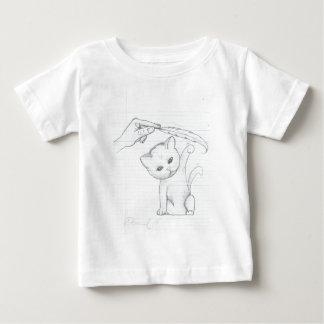 El gatito y la pluma tee shirt