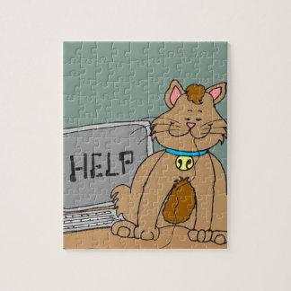 El gato 631 comió el dibujo animado del ratón del rompecabezas con fotos