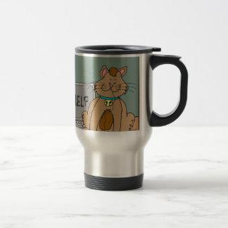 El gato 631 comió el dibujo animado del ratón del taza de viaje de acero inoxidable