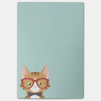 El gato anaranjado del inconformista del Tabby Post-it® Nota