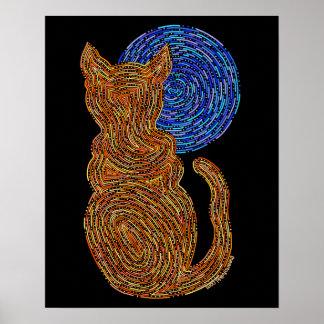 El gato anaranjado y la luna resumen el gato 16 x póster