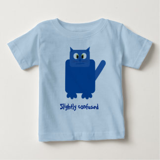 El gato azul divertido del dibujo animado playera de bebé