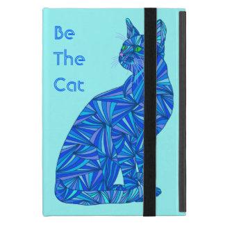 El gato azul lindo sea el iPad del arte de la iPad Mini Protectores