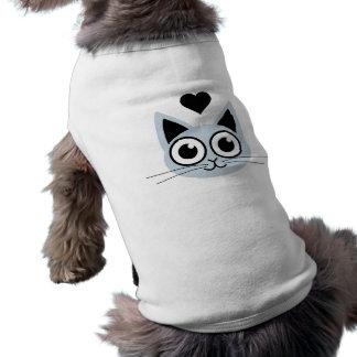 El gato azul más lindo camisas de mascota