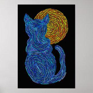 El gato azul y la luna resumen el gato del zen 13 póster