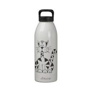 El gato BPA del dibujo animado libera la botella d Botellas De Agua Reutilizables