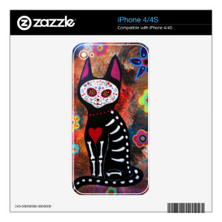 El Gato By Prisarts Decal For iPhone 4