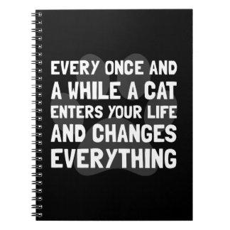 El gato cambia todo libreta espiral