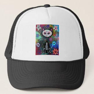 El Gato Cat Dia de los Muertos by Prisarts Trucker Hat