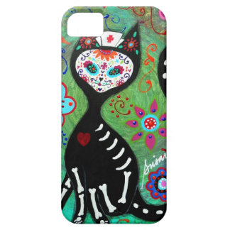 EL GATO CAT DIA DE LOS MUERTOS NURSE PAINTING iPhone SE/5/5s CASE