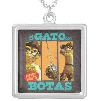 El Gato Con Botas Silver Plated Necklace