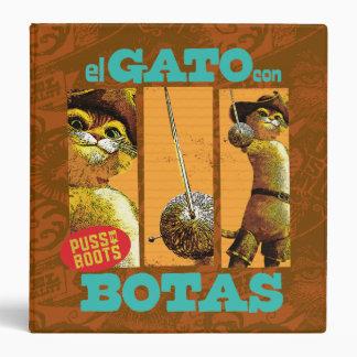 El Gato Con Botas Vinyl Binders