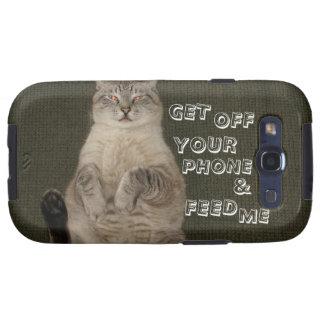El gato CONSIGUE del TELÉFONO y ME ALIMENTA el c Galaxy S3 Carcasa