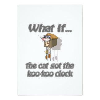 """El gato consiguió el KooKoo Invitación 5"""" X 7"""""""