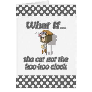 El gato consiguió el KooKoo Tarjeta De Felicitación