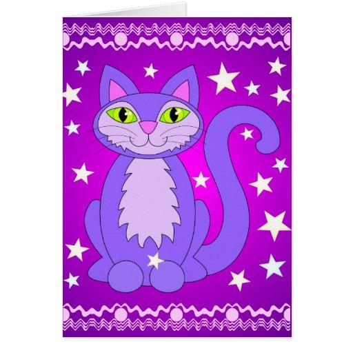 El gato cósmico del diseño protagoniza tarjetas de
