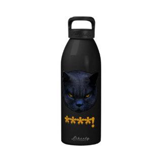 ¡El gato cruzado divertido dice el ****! Botellas De Beber