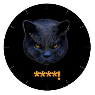 ¡El gato cruzado divertido dice el ****! Relojes