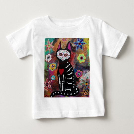El Gato Day of the Dead Painting by Prisarts Baby T-Shirt