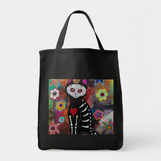 El Gato Day of the Dead Painting by Prisarts Tote Bag