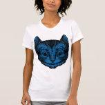 El gato de Cheshire entintó el terraplén azul Camisetas