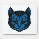 El gato de Cheshire entintó el terraplén azul Alfombrilla De Ratón