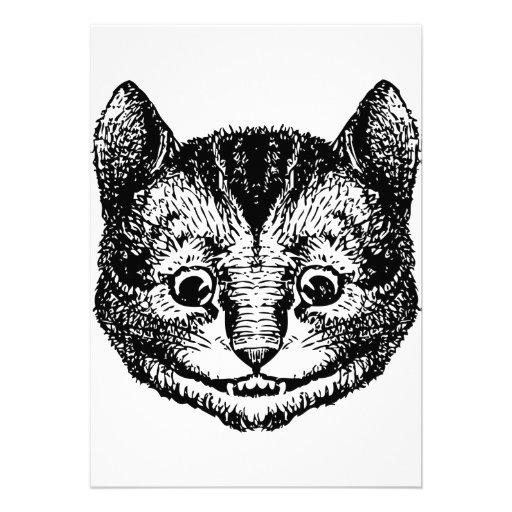 El gato de Cheshire entintó negro Comunicados Personalizados