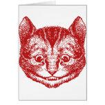 El gato de Cheshire entintó rojo Felicitación