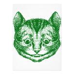 El gato de Cheshire entintó verde Comunicados Personalizados